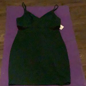 B. Darlin mesh cut out dress